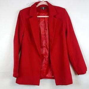 MISSGUIDED Red Openfront Blazer